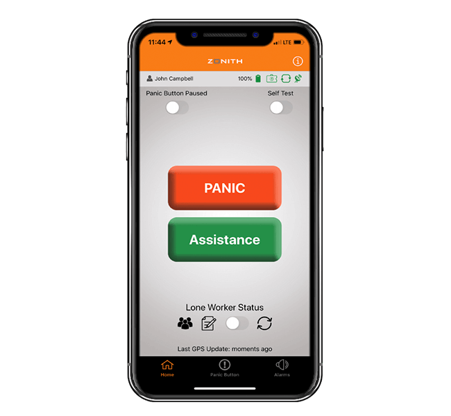 ZONITH App - Smartphone Staff Safety App